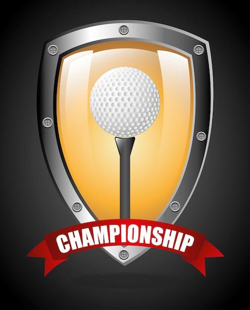 Golf championship design Free Vector