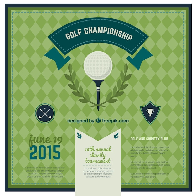 Golf championship poster Free Vector