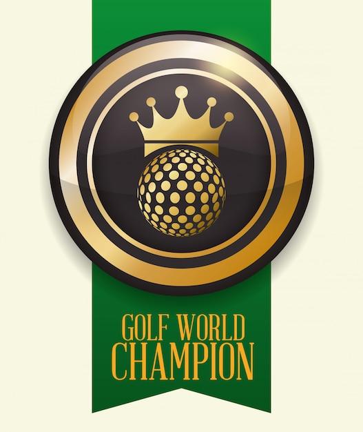 Golf club design Premium Vector