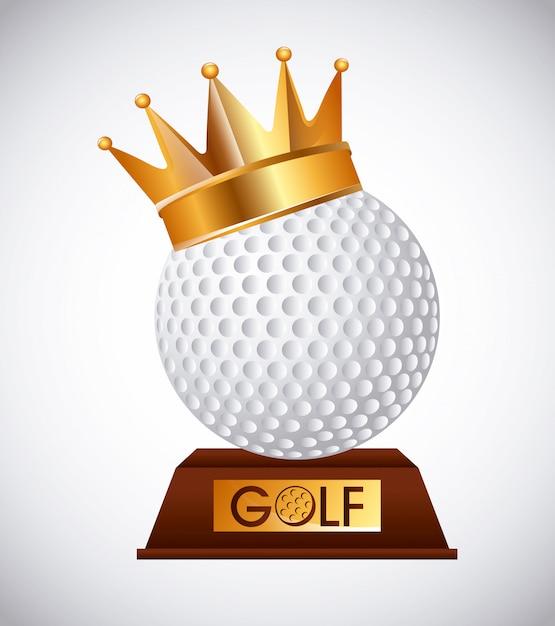 Golf club emblem Premium Vector