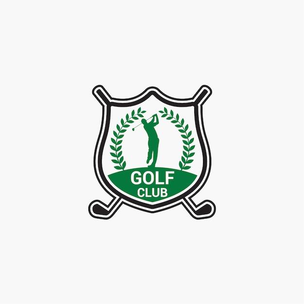 Golf club logo badge Premium Vector