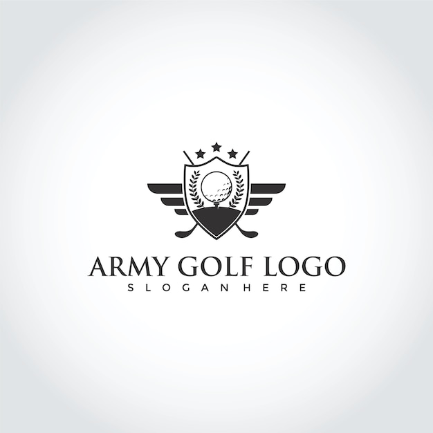 Golf Club Logo Design Premium Vector
