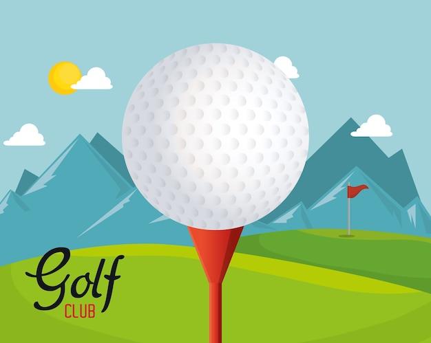 Golf club sport icon vector illustration design Premium Vector