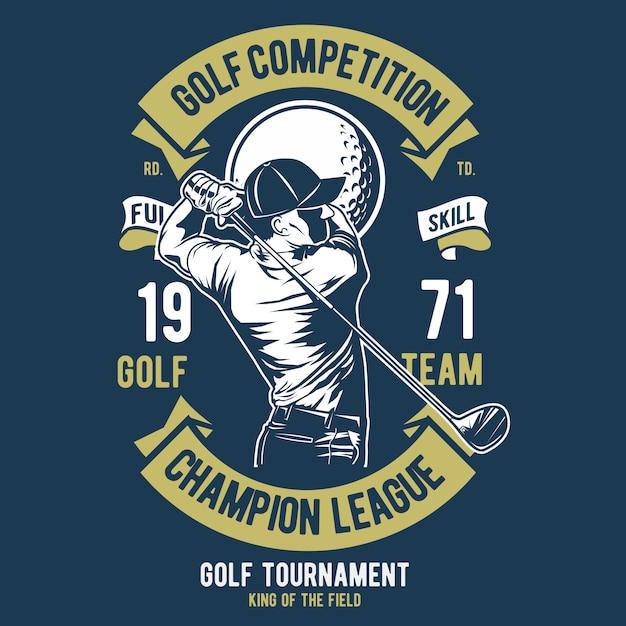 Golf competition Premium Vector