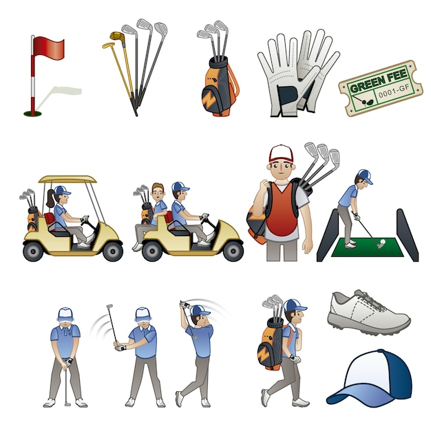 Golf elements collection