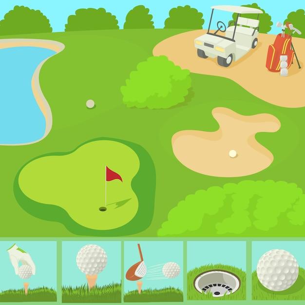 Golf field concept Premium Vector