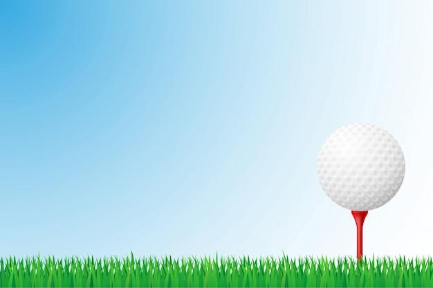 Golf grass field vector illustration Premium Vector