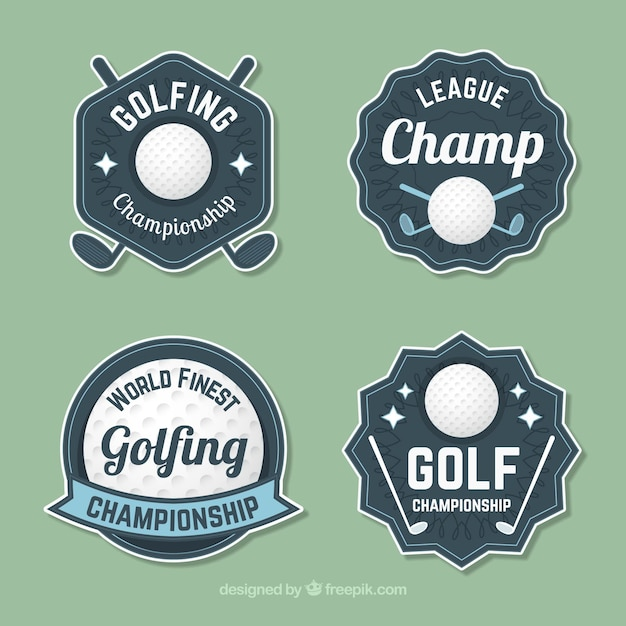 Golf labels collection in vintage style