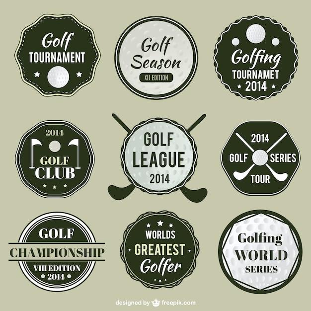 golf league labels set vector free download