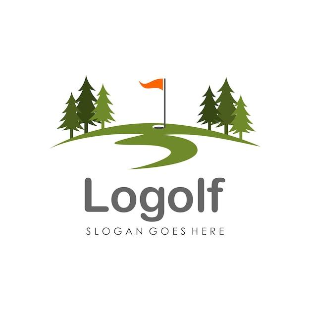 golf logo design template vector premium download