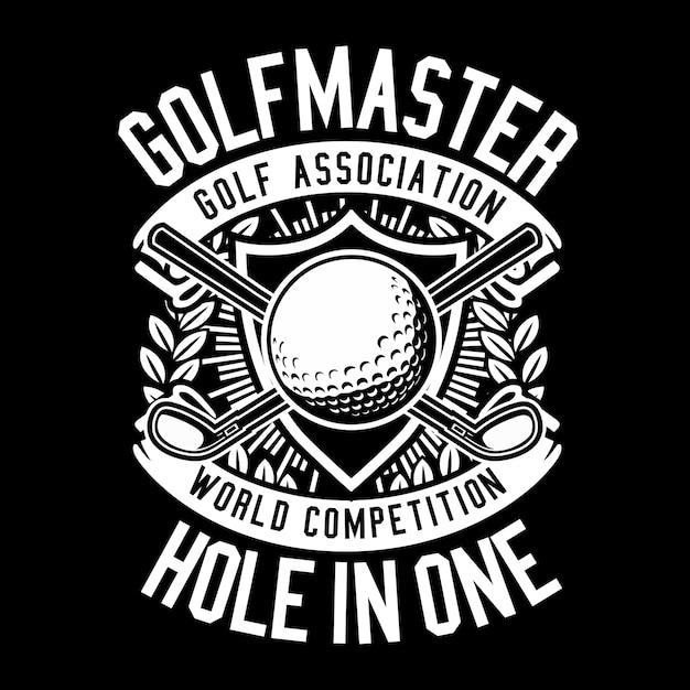 Golf master Premium Vector
