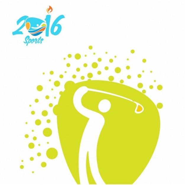 Golf olympics icon