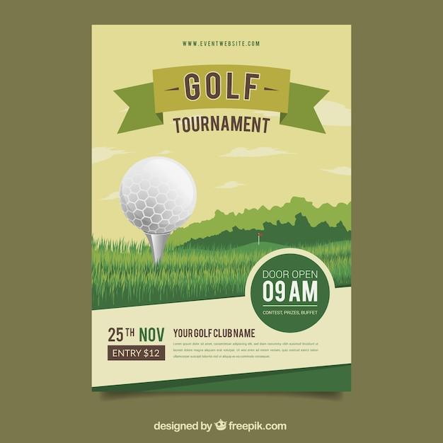 골프 포스터 디자인 무료 벡터