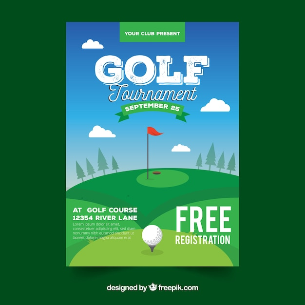 Golf poster template vector free download golf poster template free vector maxwellsz