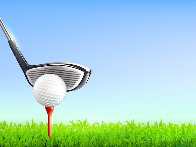 Golf realistic background Free Vector
