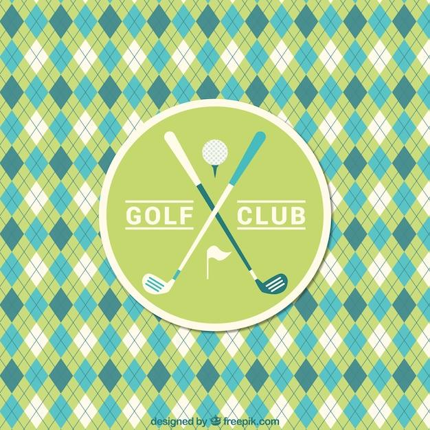 Golf rhombus pattern