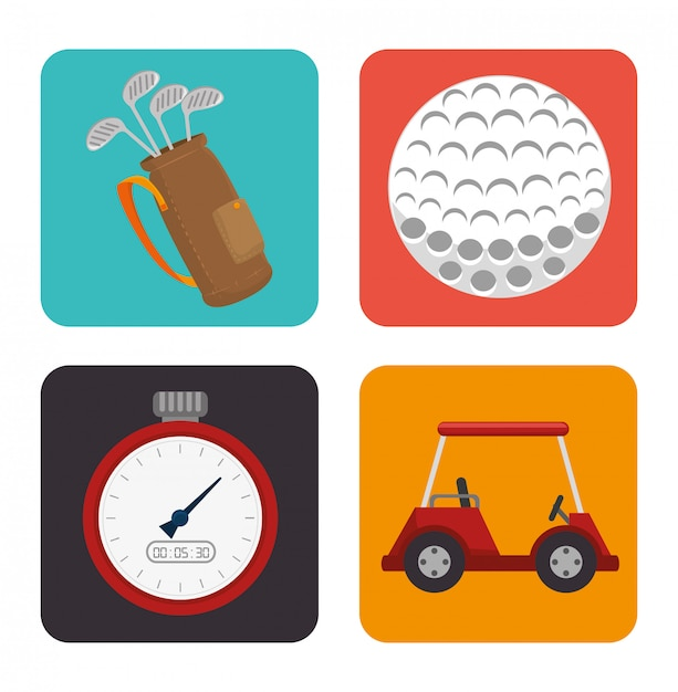 Golf sport design Premium Vector
