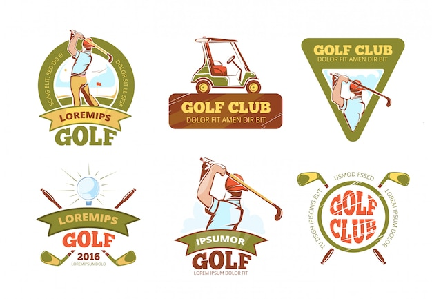 Golf sports club Premium Vector