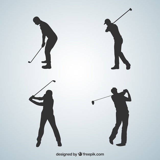 Golf swings collection Free Vector