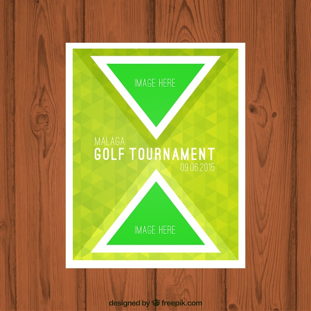Golf Tournament Brochure Free Vector