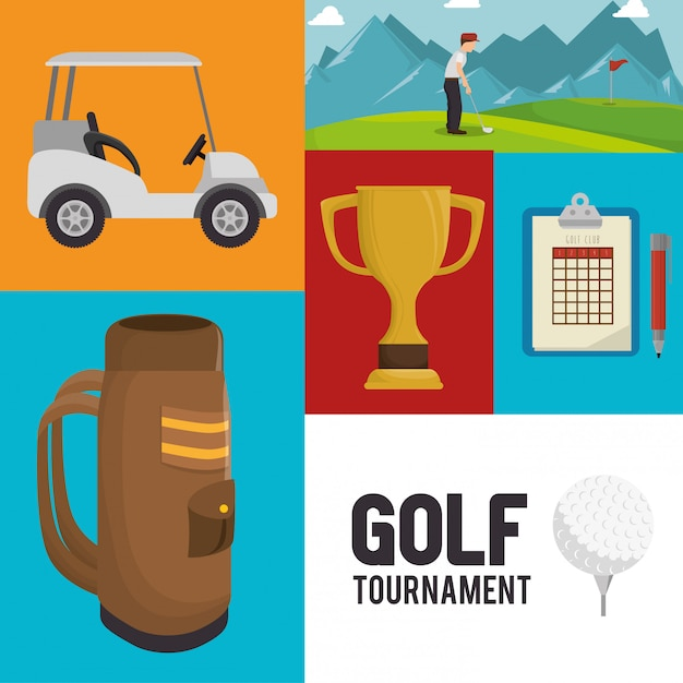 Golf tournament design Premium Vector