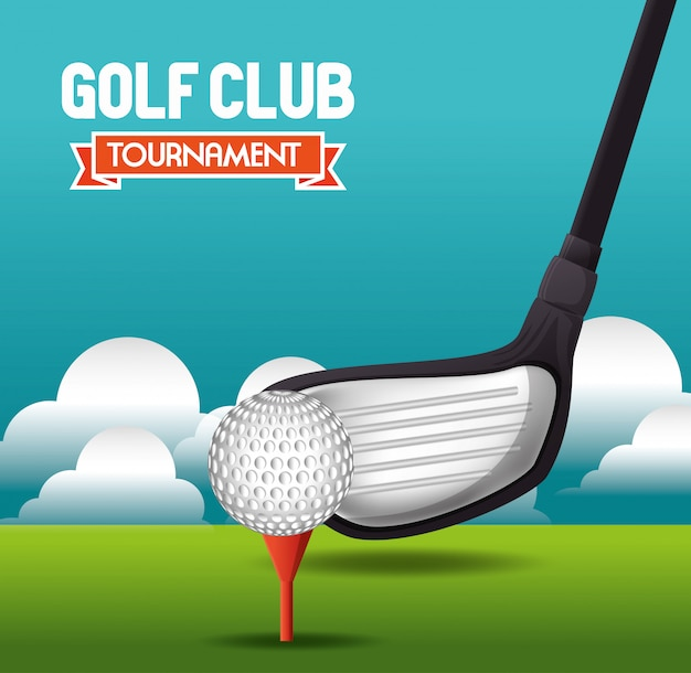 Golf tournament design Premium Vector