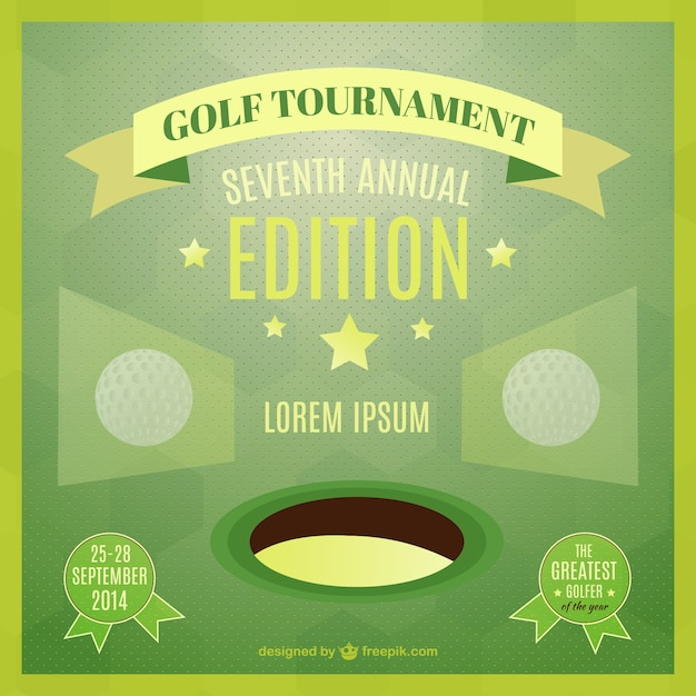 Golf Tournament Poster Vector | Free Download