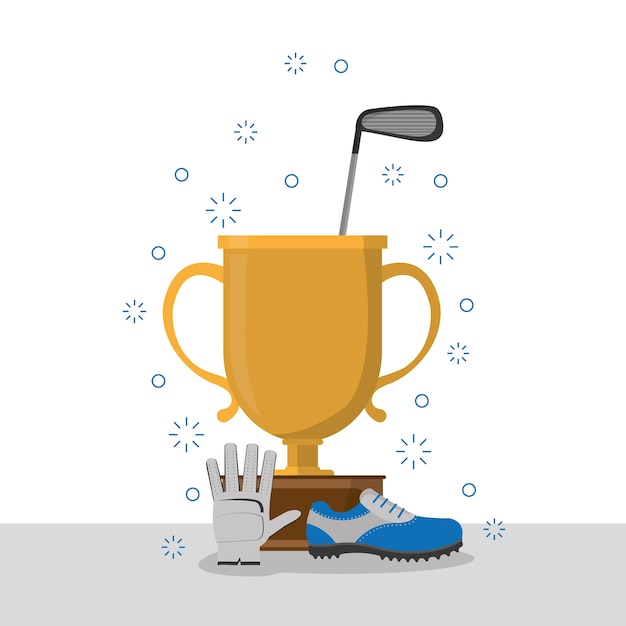 Golf Trophy Cup Premium Vector