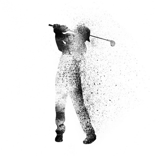 Golfer background in abstract style Premium Vector
