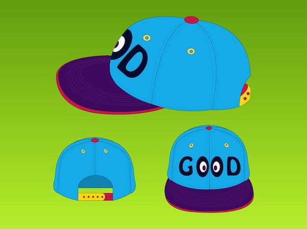 Good baseball hat vector pack