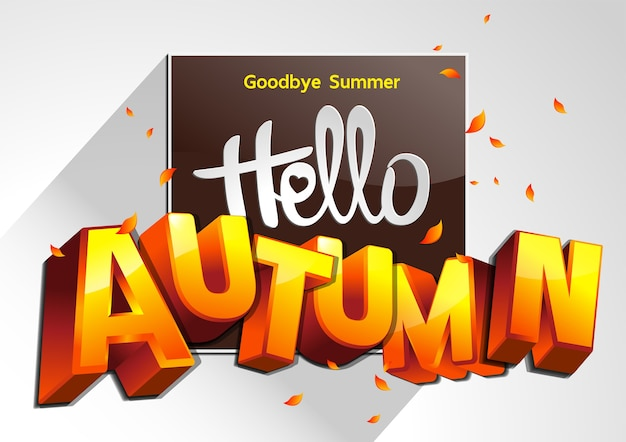 さようなら夏のイラスト Premiumベクター
