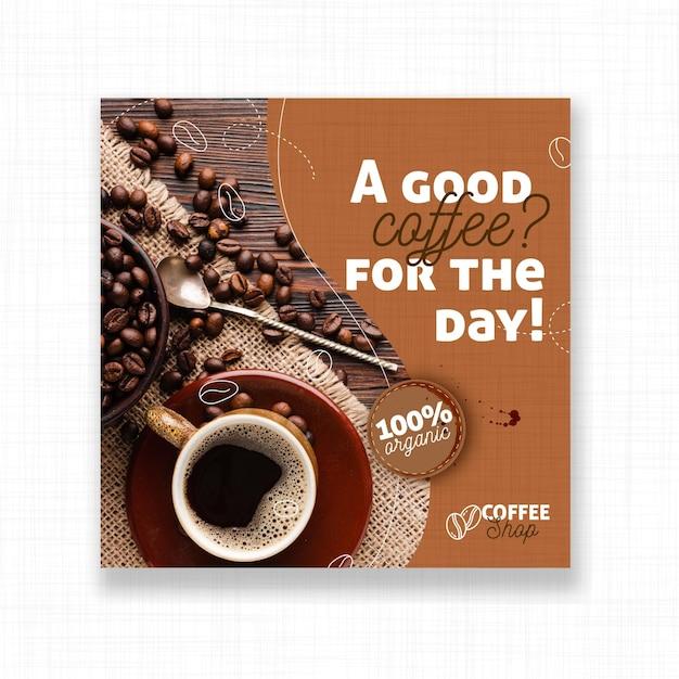 Флаер хорошего кофе дня Premium векторы