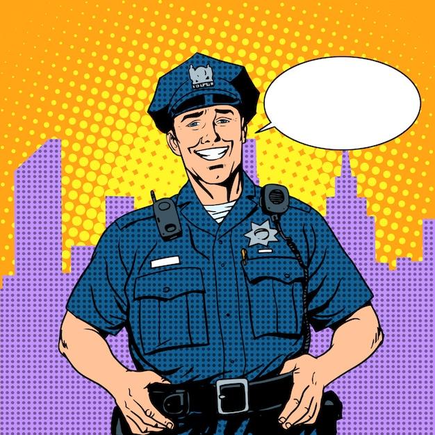 Good cop police Premium Vector