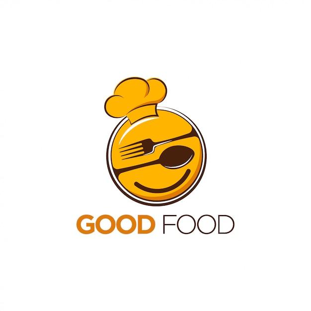 Good food logo design Premium Vector