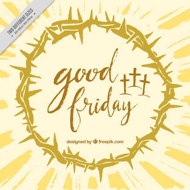 Good friday background with crown of thorns Free Vector