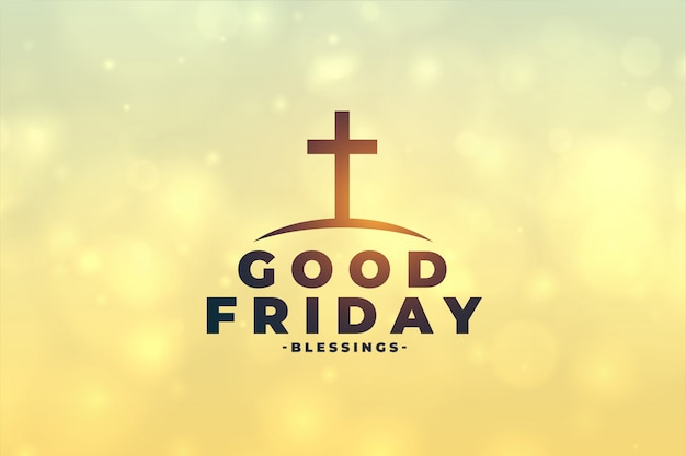 Good friday concept background with cross symbol Free Vector
