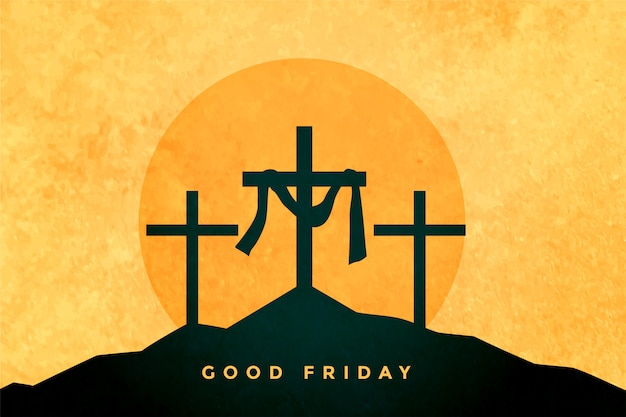 Good friday or easter day background Free Vector