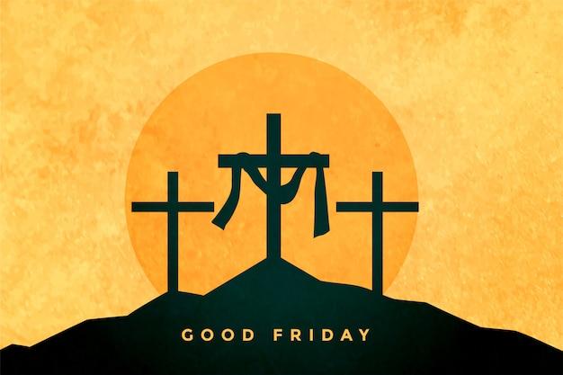 좋은 금요일 또는 부활절 날 배경 무료 벡터