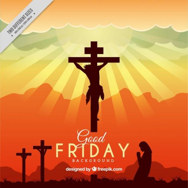 Good Friday silhouettes sunset background Vector | Premium ... | 626 x 625 jpeg 55kB