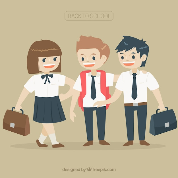 good friends together again in classes vector | free download