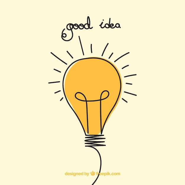 Good Idea Hand Drawn Illustration Free Vector
