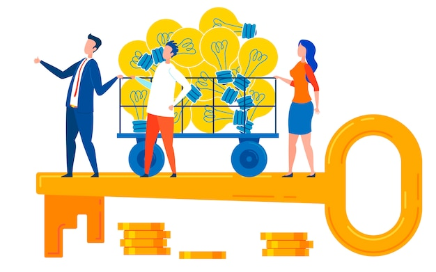 Good ideas and management key to success Premium Vector