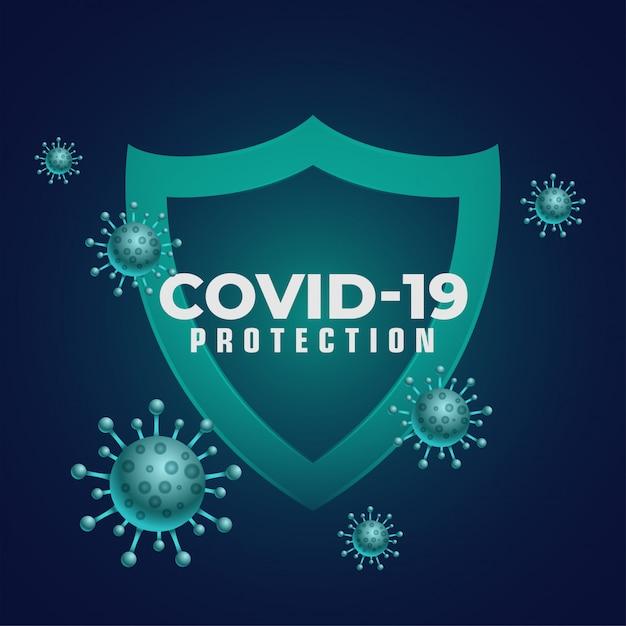 コロナウイルスの侵入を阻止する優れた免疫医療用シールド 無料ベクター