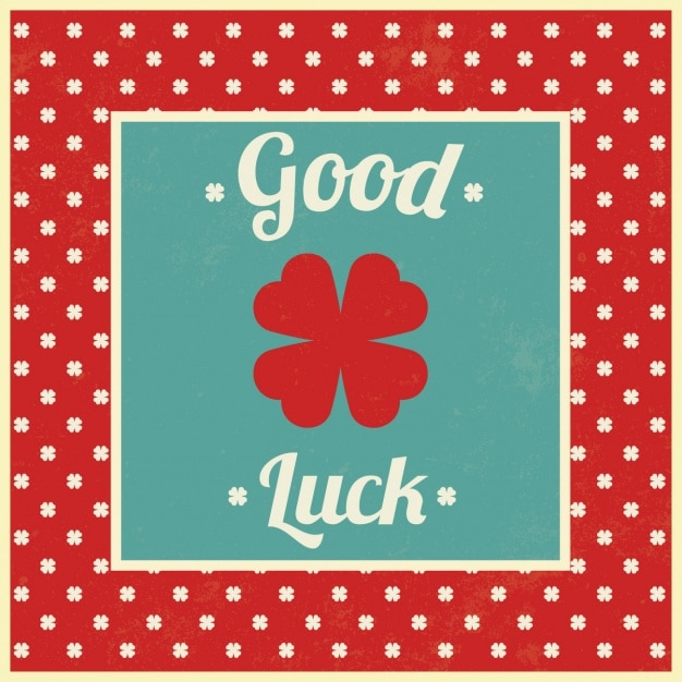 Good luck background design Free Vector