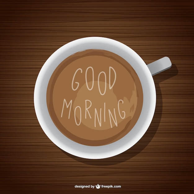 Good morning background with coffee Vector | Free Download