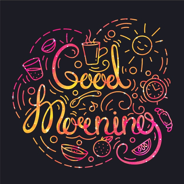 Good Morning Artistic Images : Good morning background vector free download