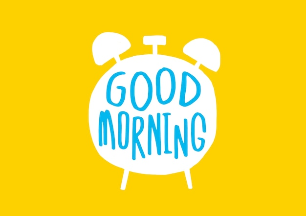 Good morning banner with cute text Premium Vector