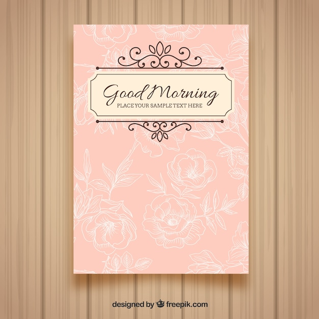 Good Morning Card Vector Free Download