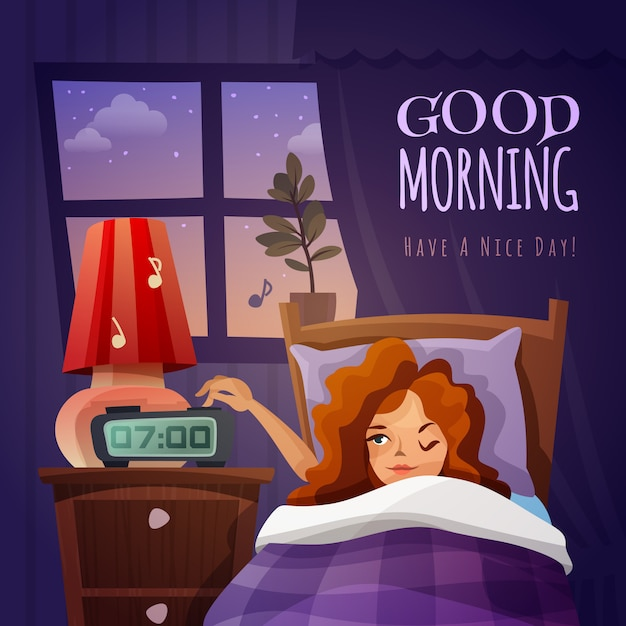 Good morning design composition Free Vector