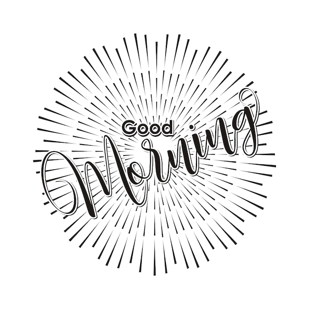 Good morning hand lettering text Premium Vector